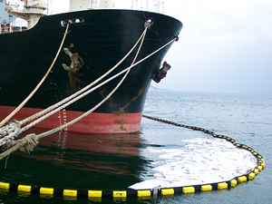 The fuel leaks in the Gulf of Izmit